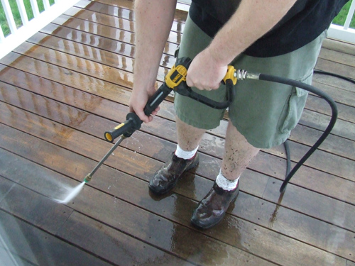 Pressure Washing the Decking
