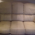Dirty Leather Sofa Cleaned
