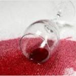 Red Wine Stain on Cream Carpet