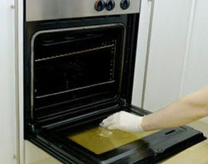 Oven Being Cleaned by Cleaner