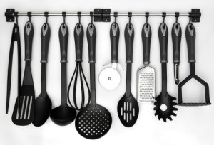 Space saving kitchen utensils