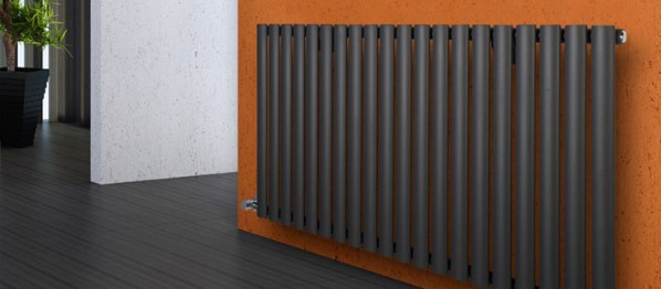 dark electric radiator