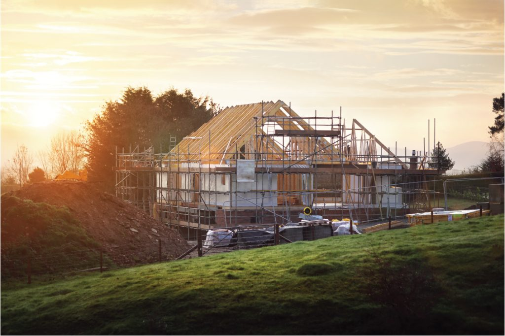 UK Home Improvement Self-build- Project: How to keep yours running smoothly - image of house under construction