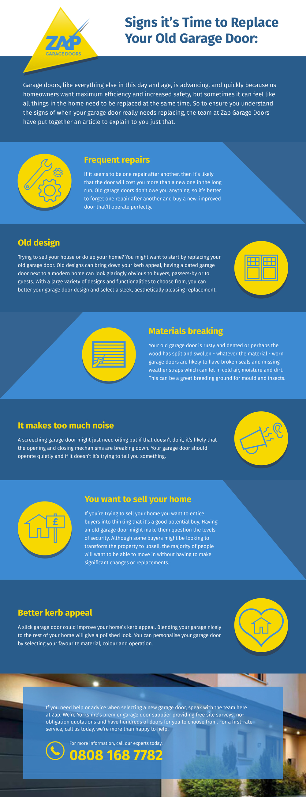 Infographic - Signs it's time to replace your old garage door.